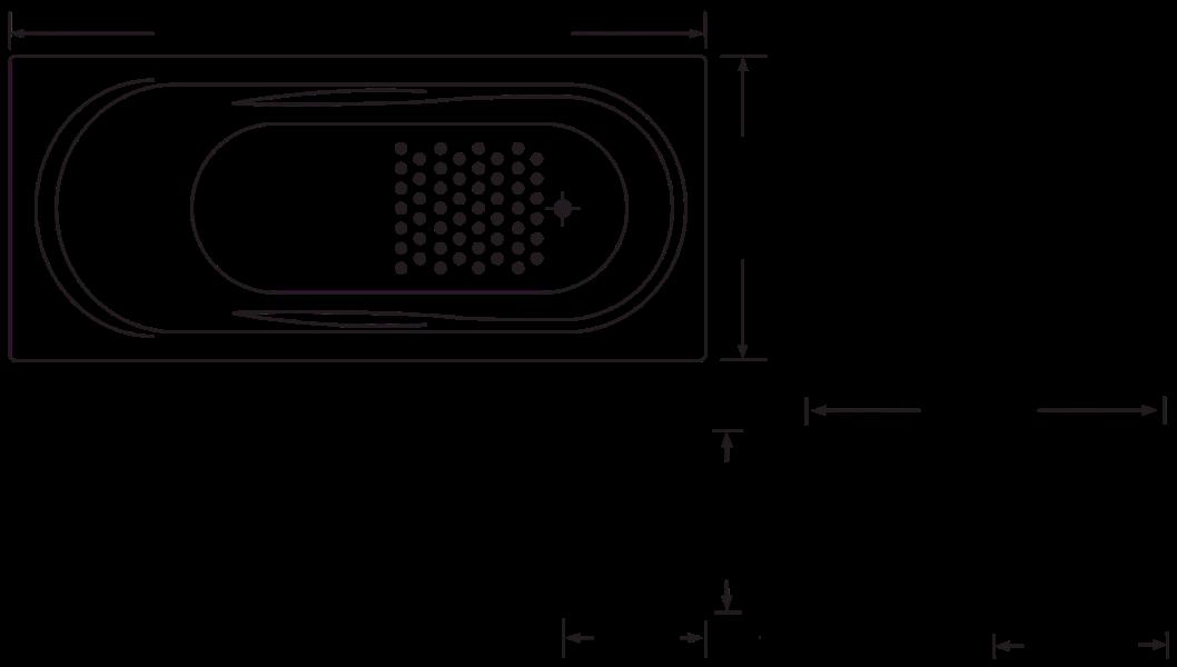 Spas : Allura 1670mm 12 Jet Spa Bath