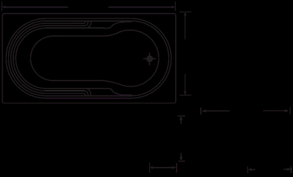 Spas : Distincto 1780mm 11 Jet Spa Bath