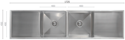 UTR8 Double Bowl Sink with Drainer