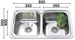 DTM820 Double Pressed Sink Bowl