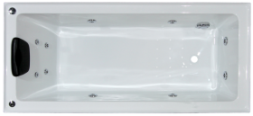 Alpha-B 1490mm 6 Jet Spa Bath (with tiling bead)