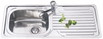 SL915 Rolled Edge Kitchen Sink
